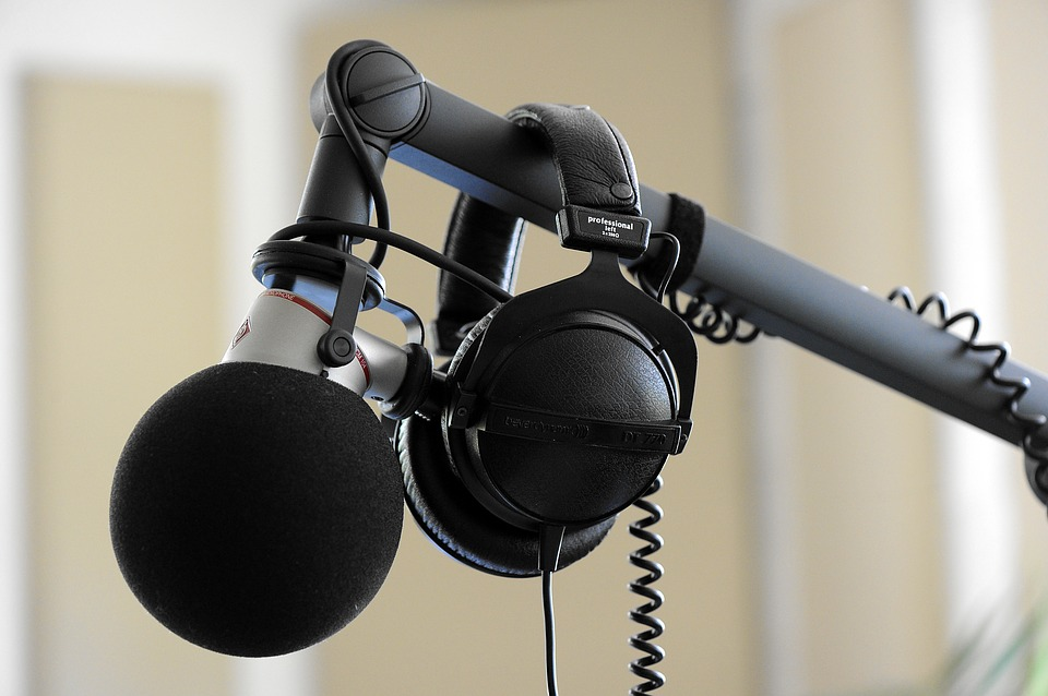 Headphones Microphone Studio Sound Music Equipment