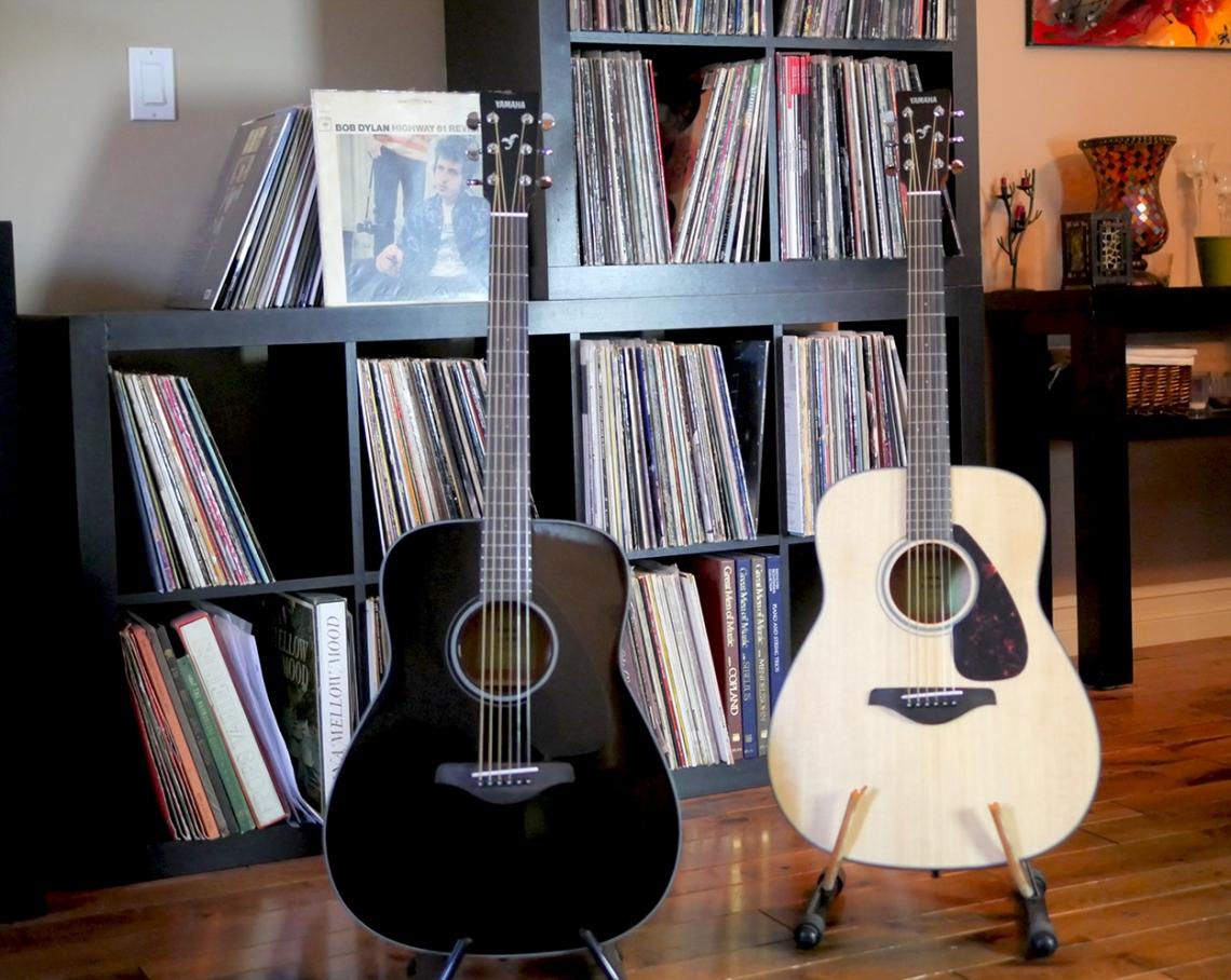 guitarra acústica yamaha fg800 en negro y natural